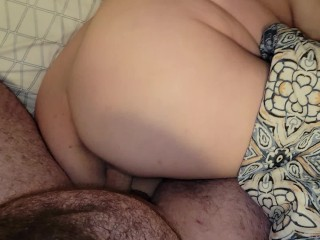 Sexy BBW wakes up to getting fucked for impregnated creampie