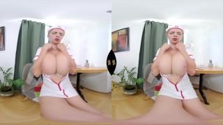 Busty MILF Nurse with a huge dildo VR Video