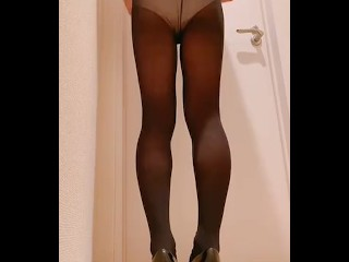 Black pantyhose masturbation crossdresser...