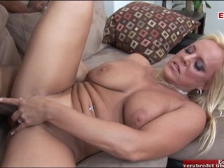 Busty blonde black porn...