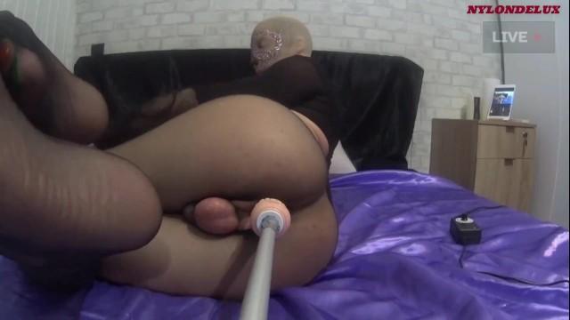 Pantyhose sex machine