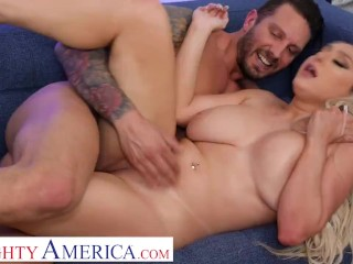 Naughty America - Skylar Vox wants her friend's dad cock in her tight pussy in exchange for some HOT