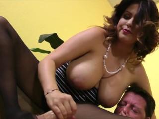 Curvy brunette dominant doll babe dominate her lover...
