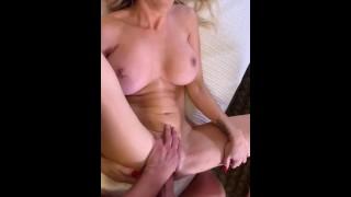Sexy Girlfriend Riding Hard