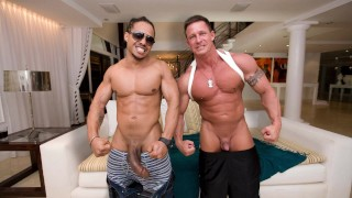 """ITS GONNA HURT - Muscular Stud """"The Rock"""" Stuffed With Castro Supreme's Big Black Cock"""