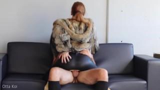 Fuck me rough in torn leather leggings and fur coat (short version) - Otta Koi