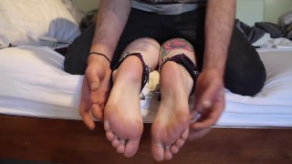 Foot Goddess submits to tickle torment