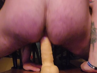 Riding dildo like a champ my manpussy is...