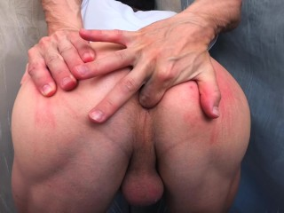 Bad ass sticks a finger inside...