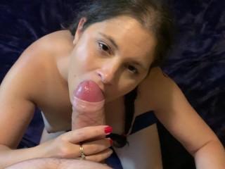 Wife needs face cream blowjob cumshot facial rubbed...