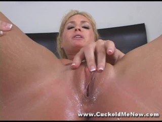 Flower Tucci cuckold hot wife creampie eating by cuckold and squirting and chastity sissy femdom sex