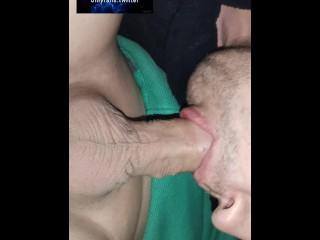 Russian slave sucks asian...