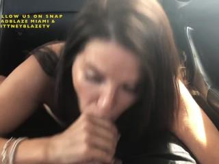Public Car Blowjob Ends in Cum on Tits & Cumwalk – DAY 7 – 99 BLOWJOBS IN 99 DAYS