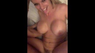 Hot neighbor with big bouncy tits late night booty call