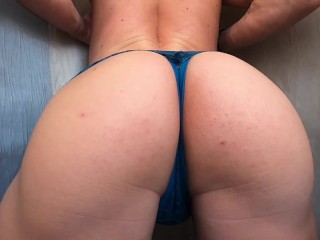 Anissaboy bitch pulls panties and teases...