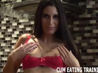 Femdom Cum Eating And CEI Training Porn