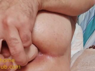 In tight ass dildo anal cum...