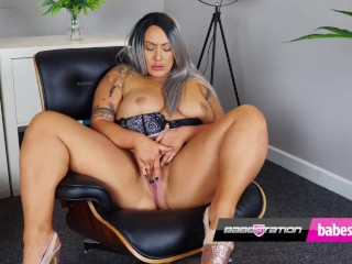 British BBW Danielle Louise plays with her pussy on Babestation celeb porn tube