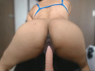 Fit dildo my pussy is so wet...