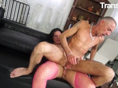 TRANSBELLA - KELLY CESARIO HUGE ASS BRAZILIAN SHEMALE HOT ANAL WITH OLD GUY