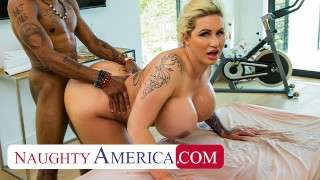 Naughty America - Ryan Conner pulls out masseuse's cock and gives him a happy ending