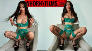 Hot bimbo in lingerie and high heels gets her butt fucked hard and pussy squirted - WHORNY FILMS