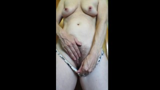 RUBBING CLIT TO GET IN THE MOOD- Cummybush gets ready to FUCK! - plays with her nips and hairy pussy