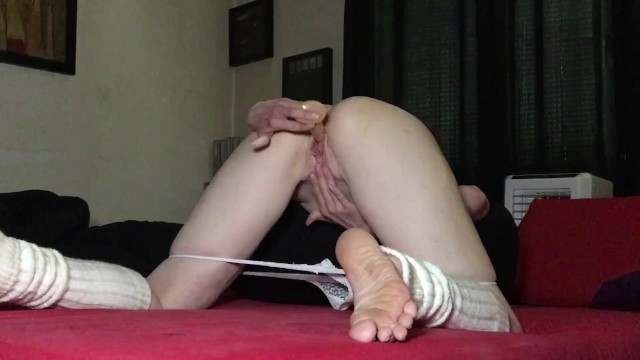 Masturbation of my hot pussy with a dildo 14