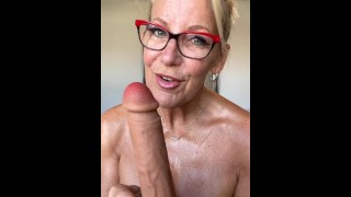Rubbing Oiled Titties & Dildo Sucking