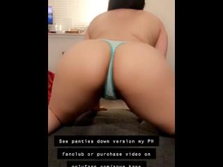 Topless big booty twerking in striped panties anya...