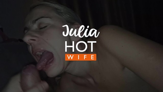 Slowmo cumshot in the mouth. Blowjob 4