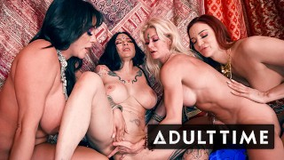 ADULT TIME - Erotic Lesbian Orgy Leads To SO MANY SQUIRTS!