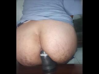 My hairy butt dildo ass...
