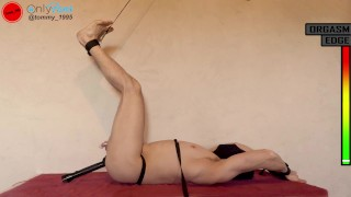 Immobilized precum milking - Edging and denial with prostate vibrator