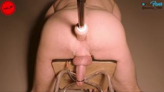 ESTIM MAX voltage + MAX speed FUCKING MACHINE prostate milking