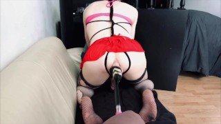 Trancess Triss Presents: Deep, hard, fast and Sexy Anal fucking with Sex Machine