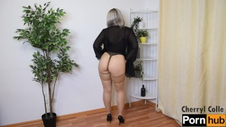 SEXY TEASING BY A BEAUTIFUL BLONDE MILF
