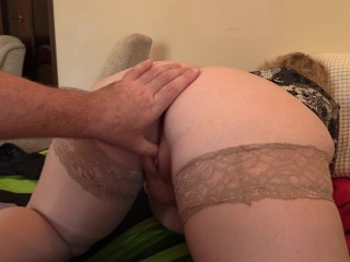 Fisting to orgasm mature couple...