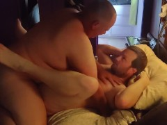 Topping Michael in his sexy underwear and a big facial