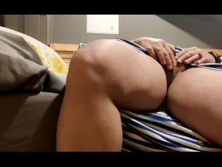Solo female masturbating to  trembling multiple orgasms! MILF pussy drenched and runs down her hand!
