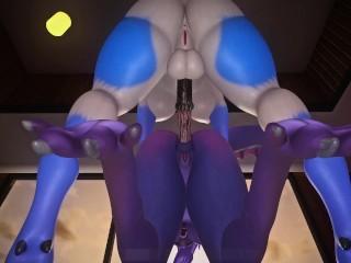 Babe takes huge hard dick...