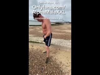 Straight british bloke his shorts at the beach...