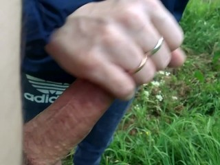 Fucked and sucked in the bushes in the park