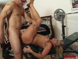 Curly blonde gets a guy in a hot...