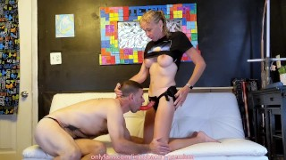 SEXY FIT Milf PASSIONATE PEGGING ASS FUCK Sensual Strapon Suck SWITCH BJ Intimate HARD POUNDING!