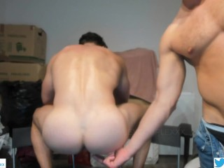 Sexy mr bubble ass goes naked deep squats...