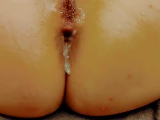 Submissive Wife Eats Her Painal Creampie