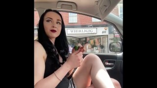 Wanna see what A British girl does with cucumbers in public ? 🥒