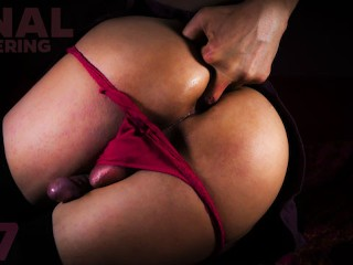 Sissy anal fingering with joi black stockings play...