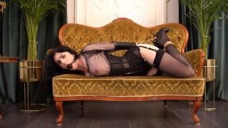 Bondage girls in corset and stockings
